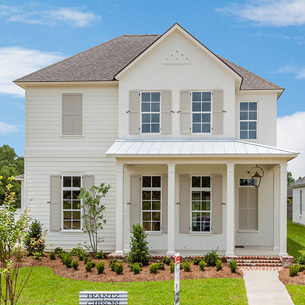 2 Story Custom Home built by Frantz-Gibson Construction Company in Oakland Crossing in Prairieville, LA