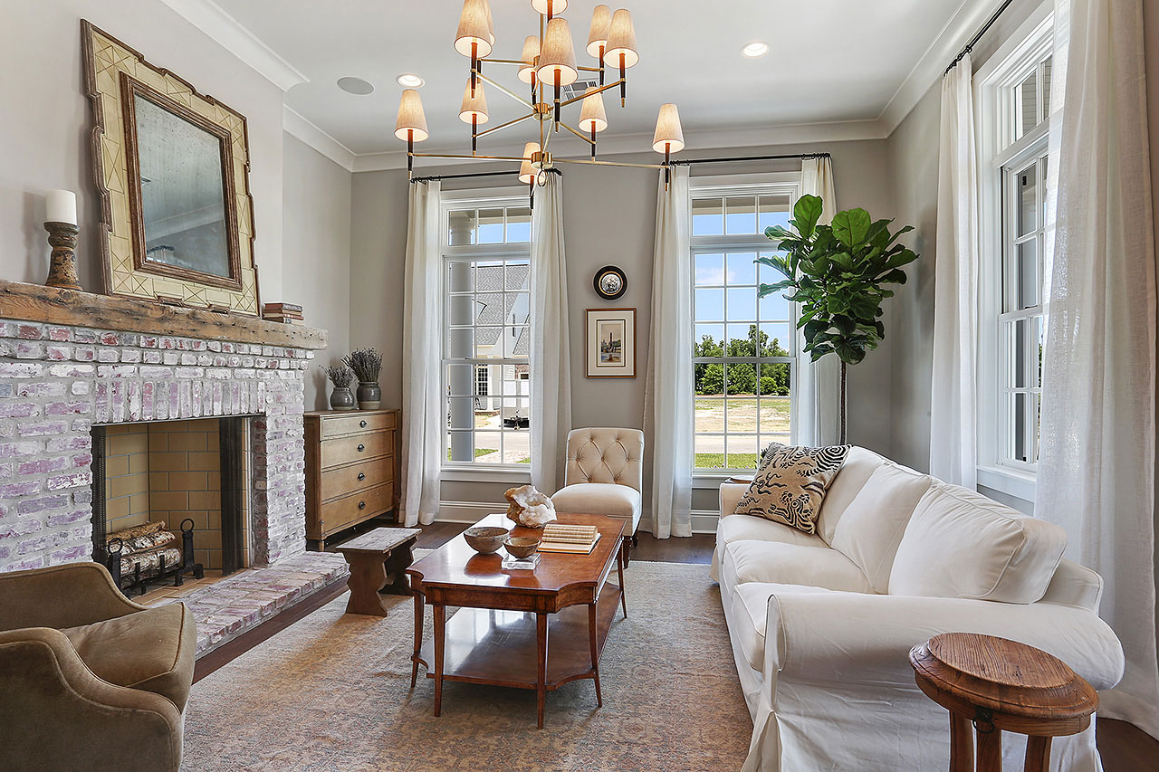 Frantz Gibson painted living room