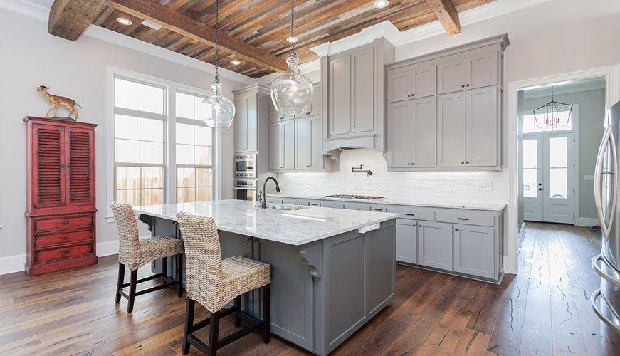 Frantz Gibson Custom Home Builder Prairieville_Oakland Crossing Lot  41 Kitchen Gray Cabinets